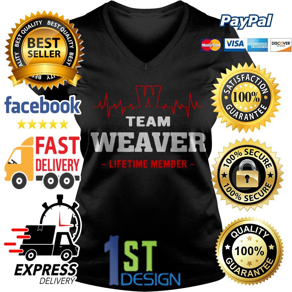 Heatbeat team Weaver lifetime member V-neck T-shirt