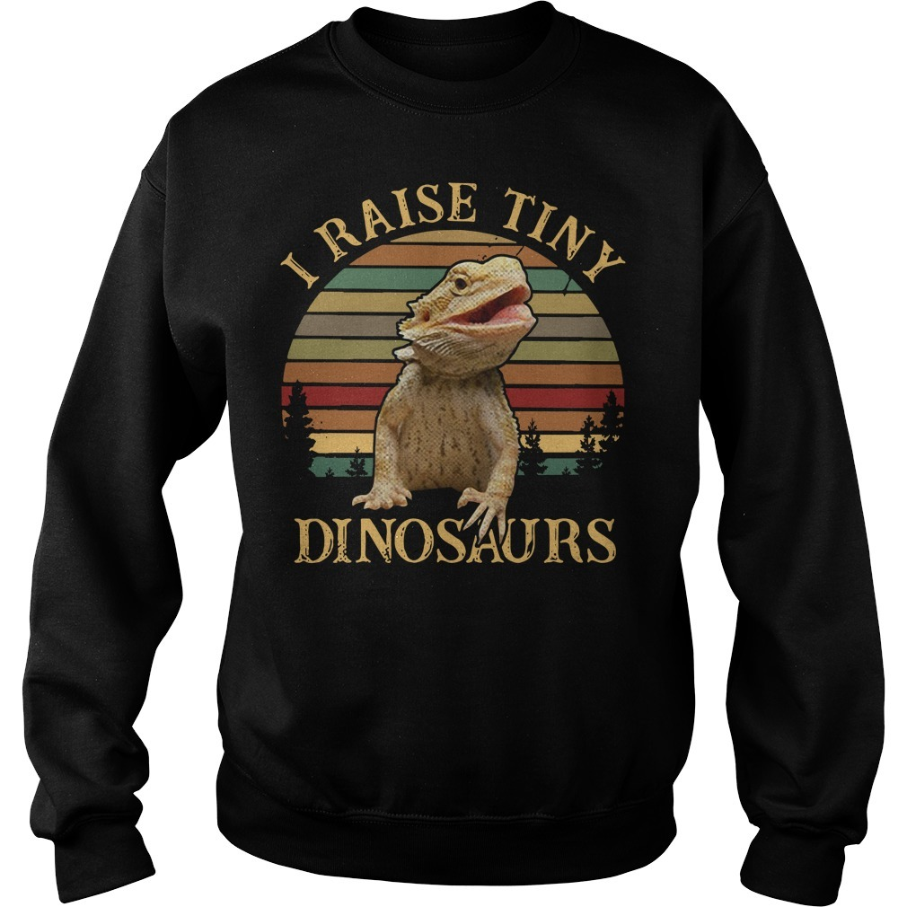 I raise tiny dinosaurs bearded dragon vintage Sweater