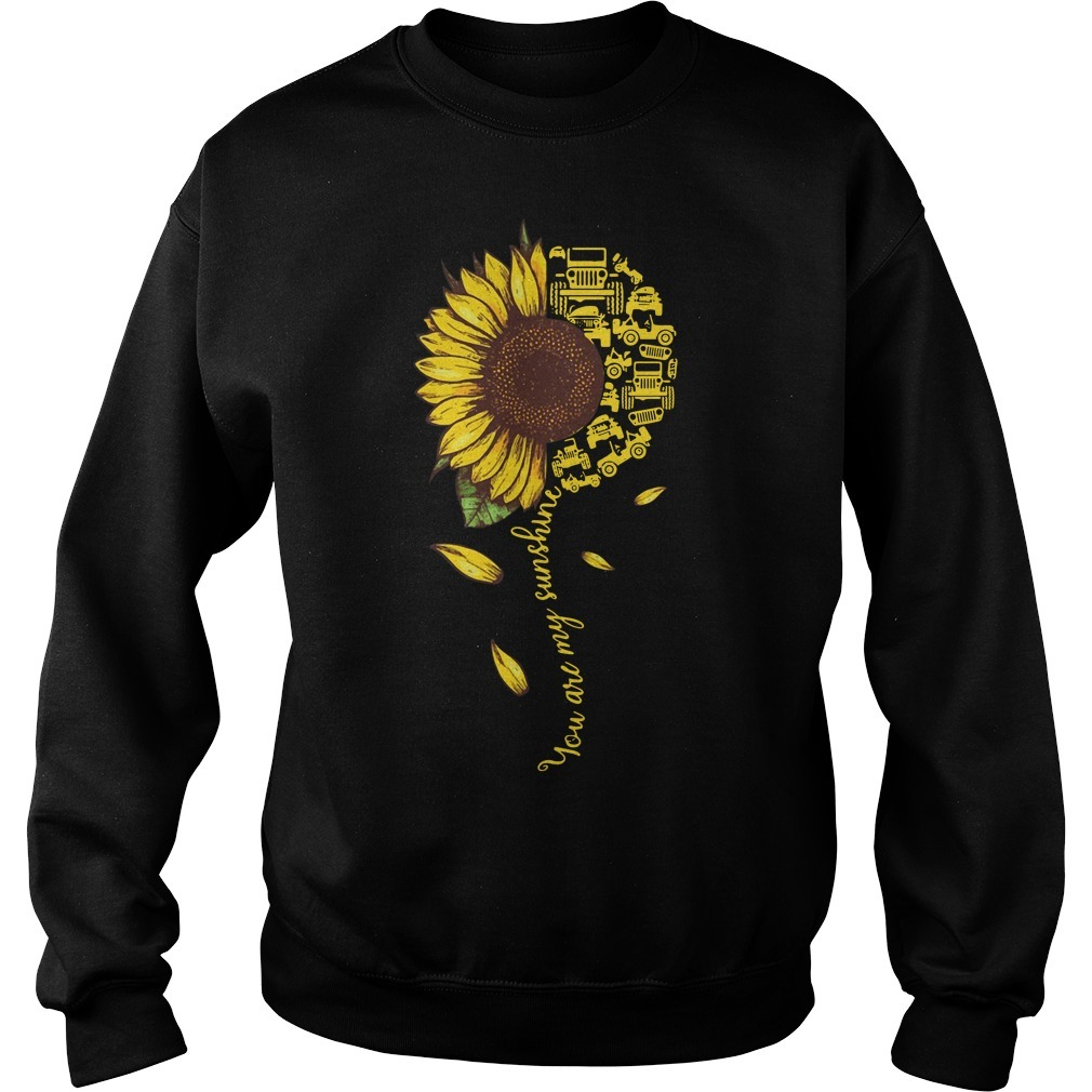 Jeep sunflower you are my sunshine Sweater