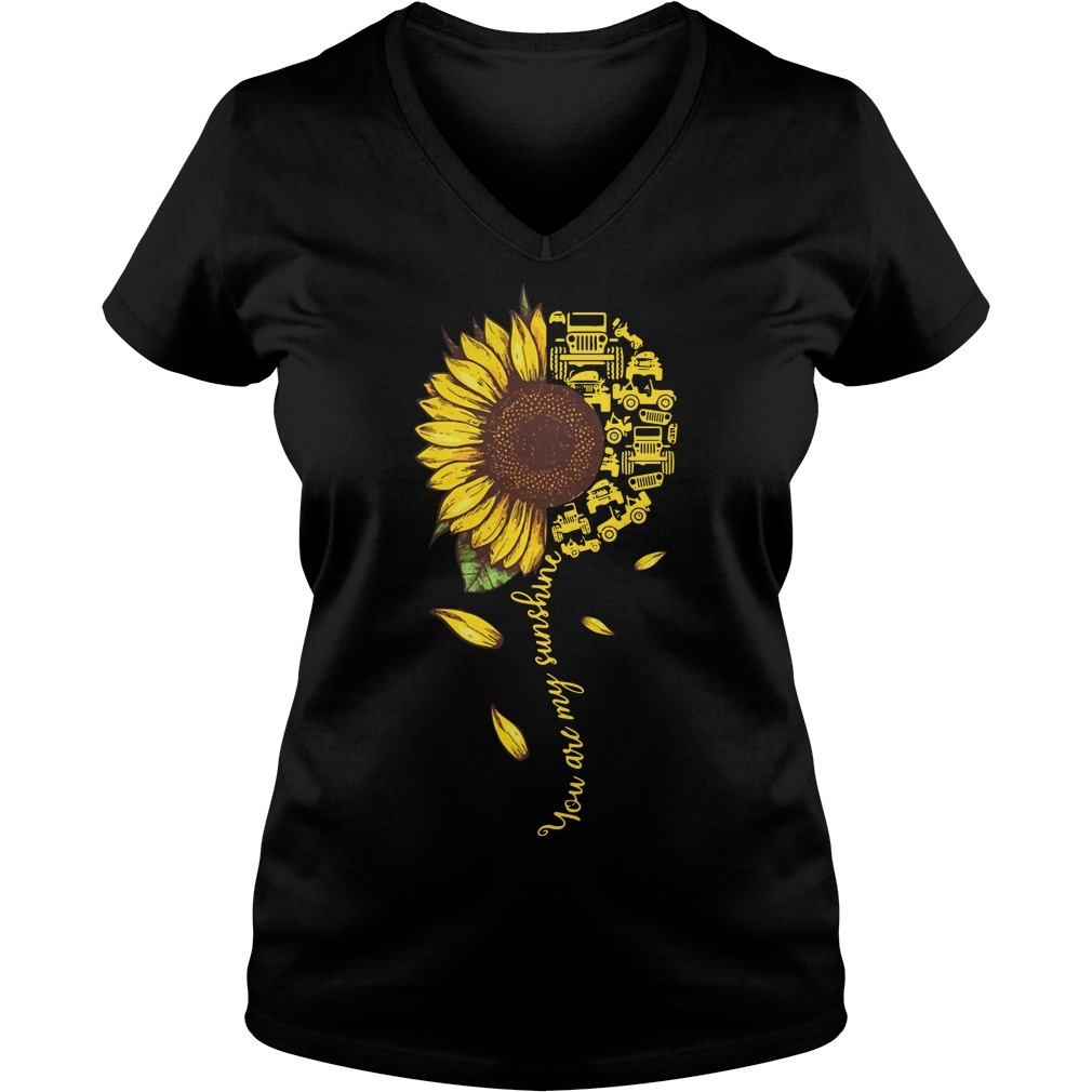 Jeep sunflower you are my sunshine V-neck T-shirt