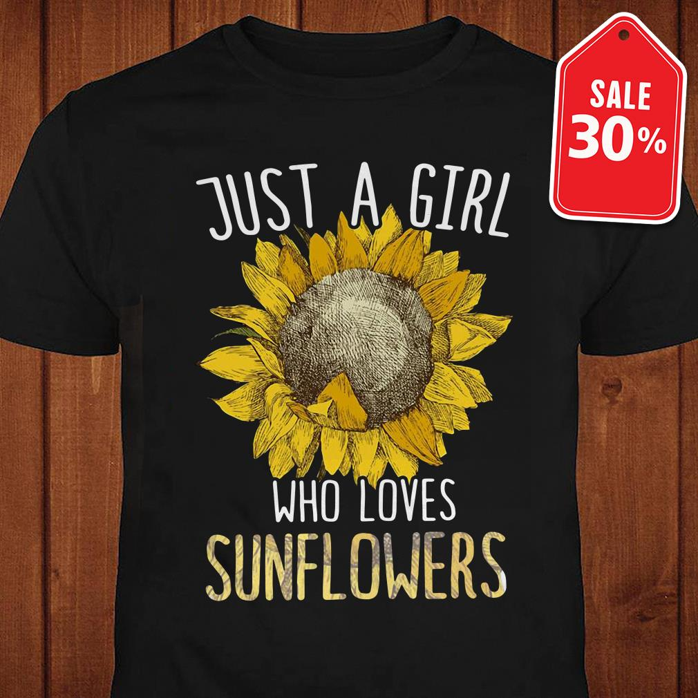 Just a girl who loves sunflowers Guys shirt