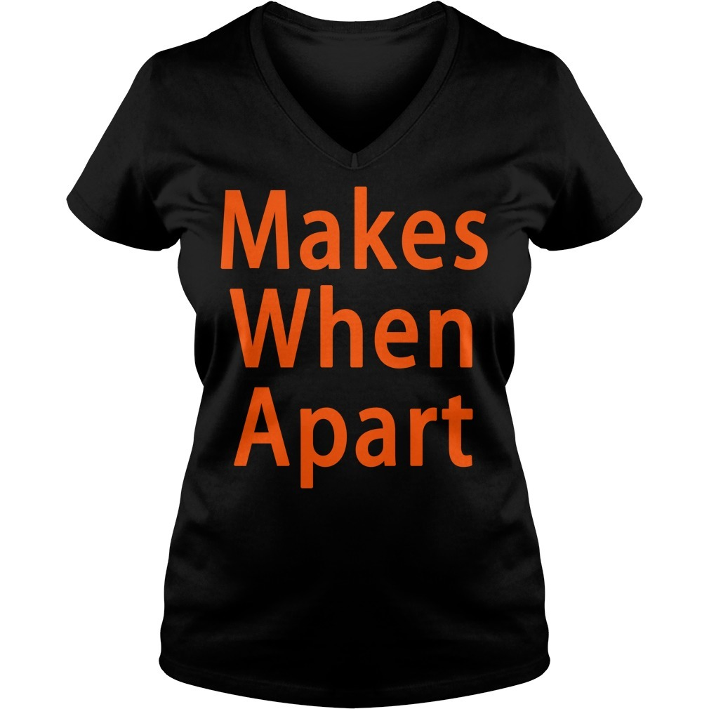 Makes when apart V-neck T-shirt