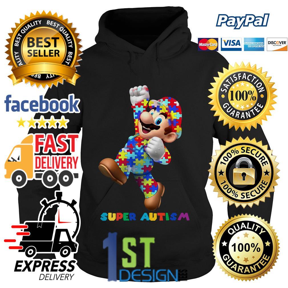 Mario super autism Hoodie