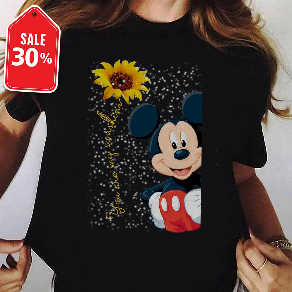 Mickey mouse you are my sunshine sunflower Guys shirt