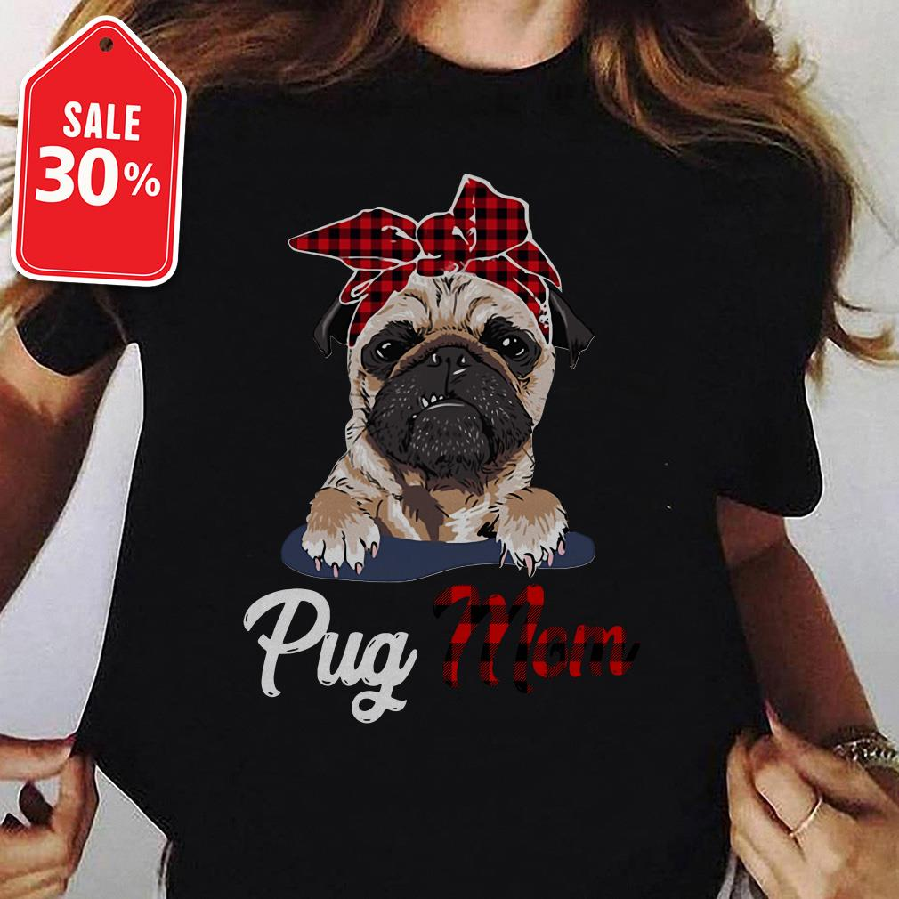Pug mom Bandana Guys shirt