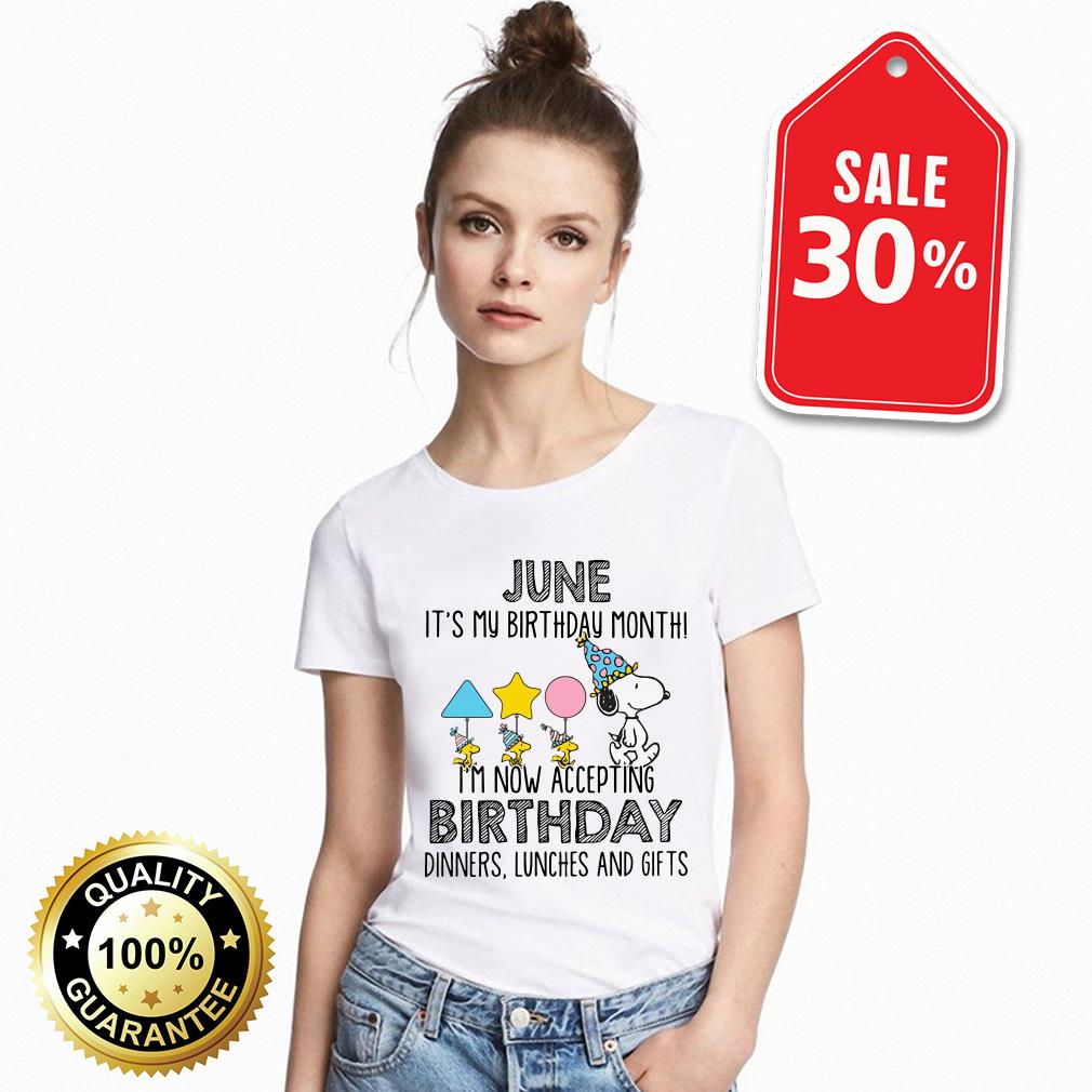 Snoopy June it's my birthday month I'm now accepting birthday