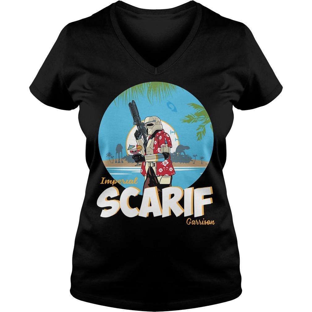 Star wars imperial Scarif garrison V-neck T-shirt