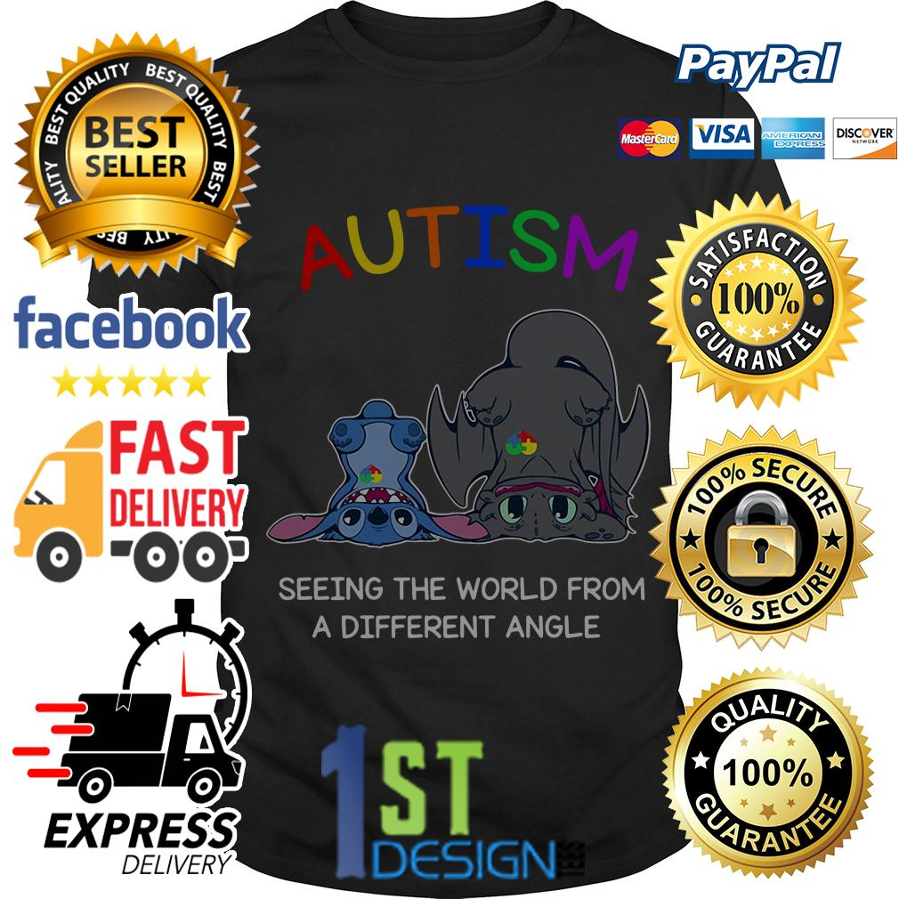 Stitch and Toothless autism seeing the world from a different angle shirt