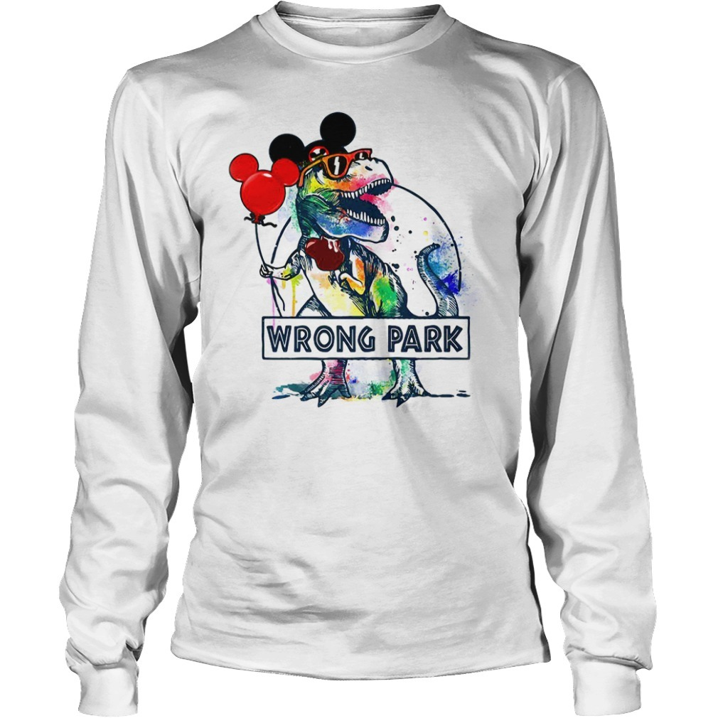 T-Rex with Mickey Mouse ears wrong park Longsleeve Tee