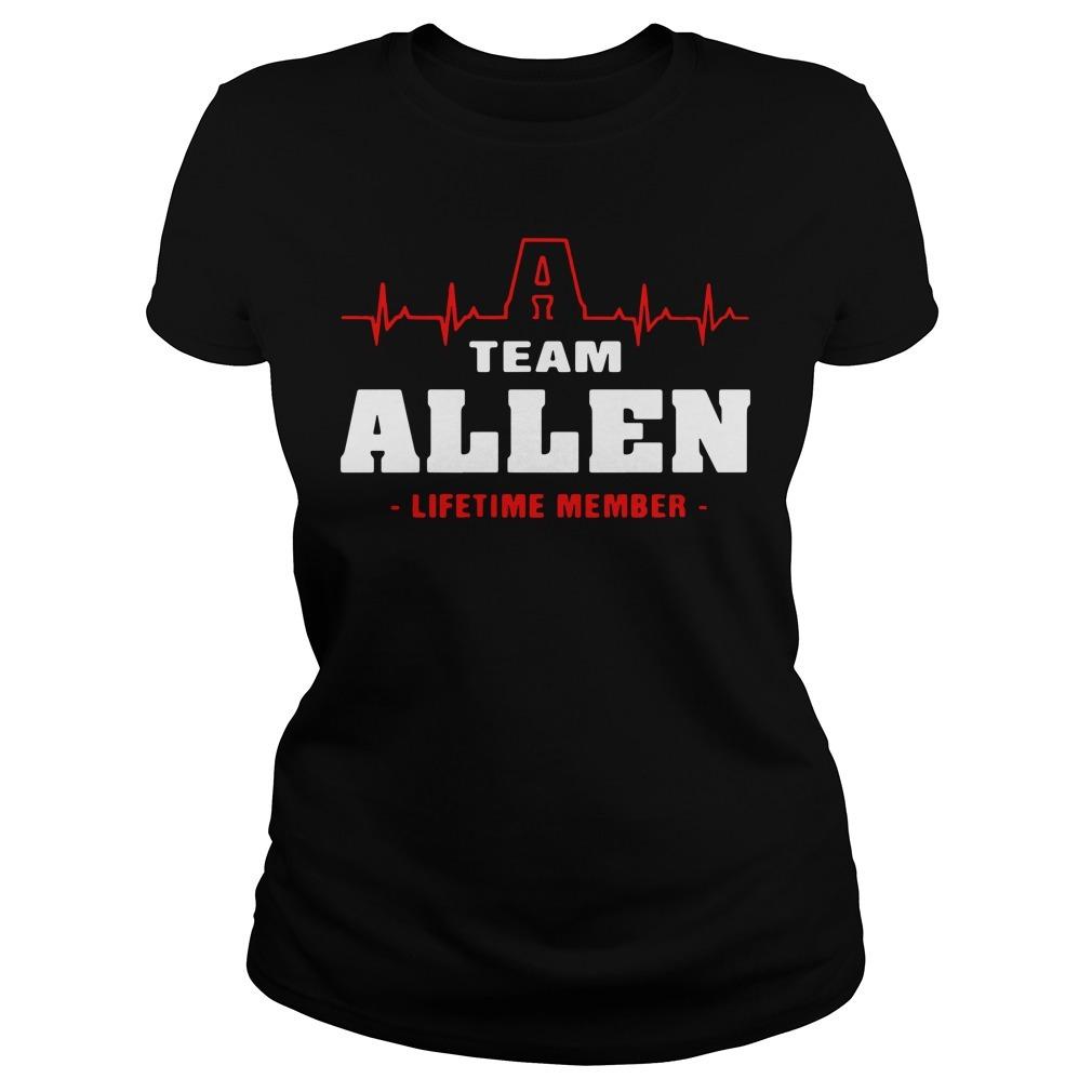 Team Allen lifetime member Ladies Tee