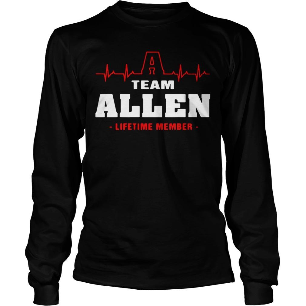 Team Allen lifetime member Longsleeve Tee