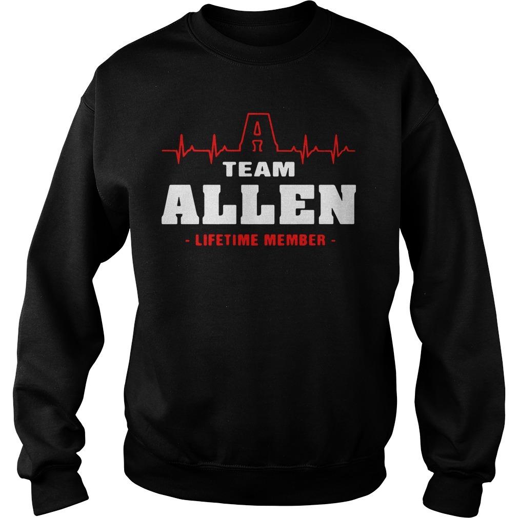 Team Allen lifetime member Sweater