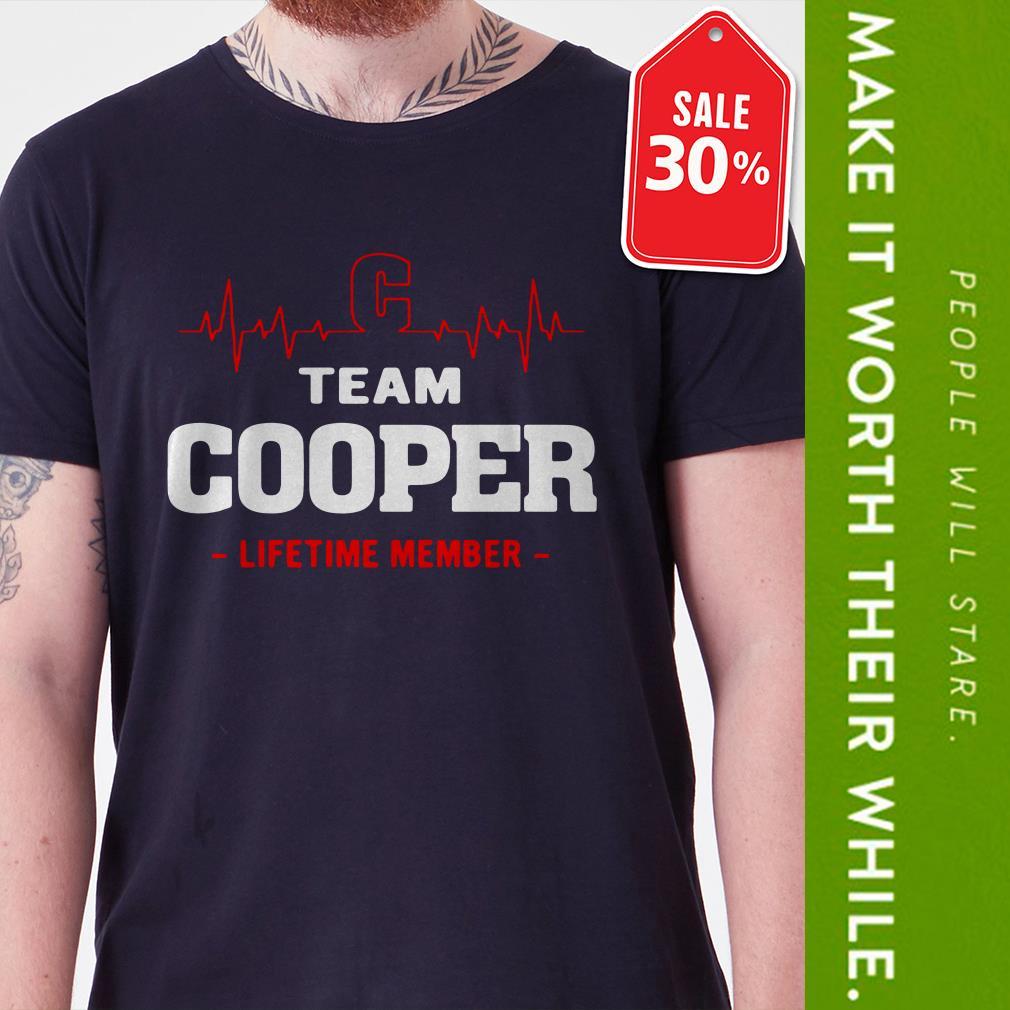 Team Cooper lifetime member Guys shirt