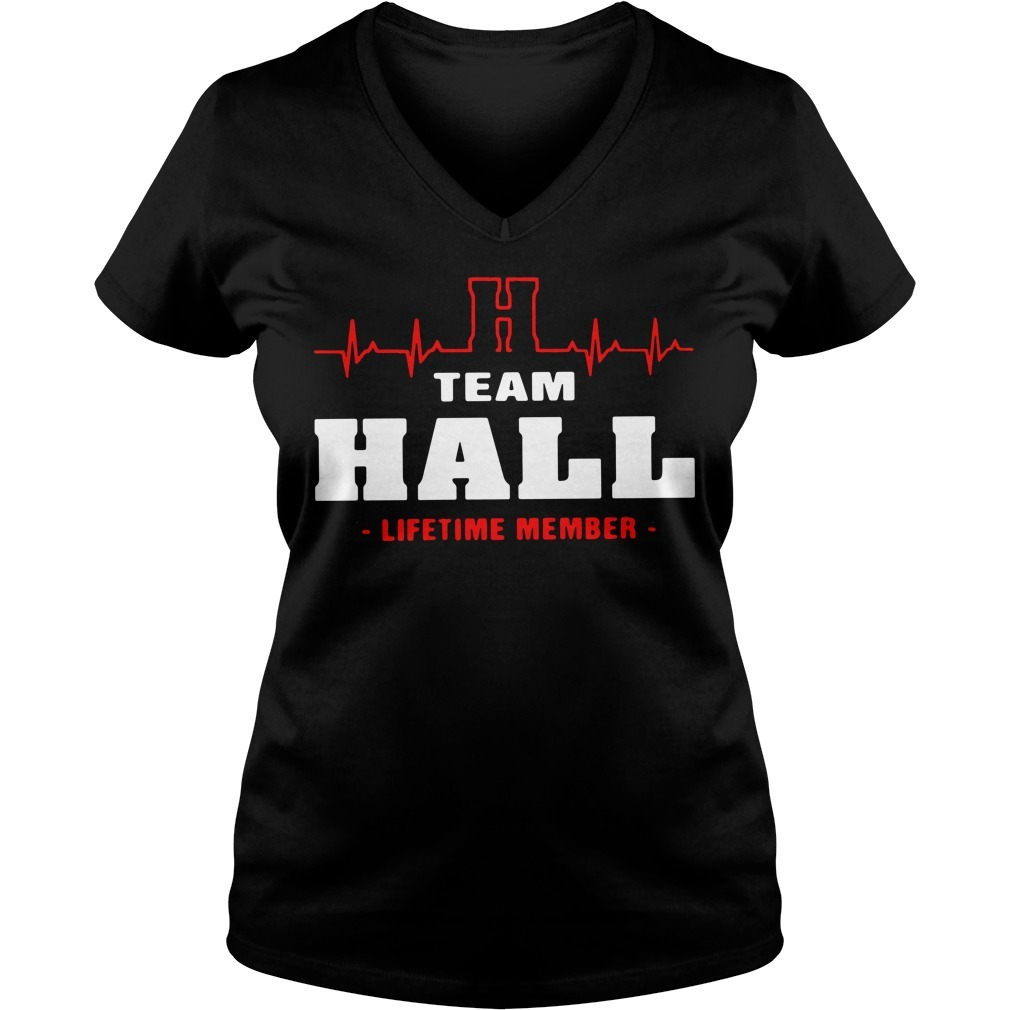 Team Hall lifetime member V-neck T-shirt