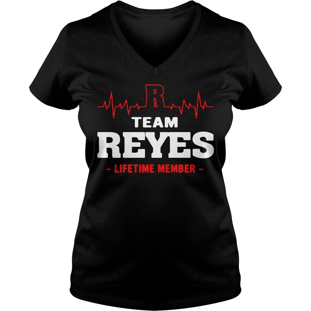 Team Reyes lifetime member V-neck T-shirt