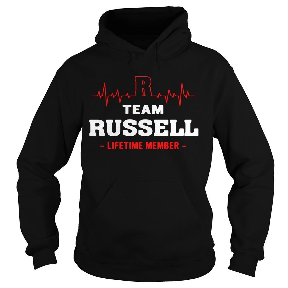 Team Russell lifetime member Hoodie