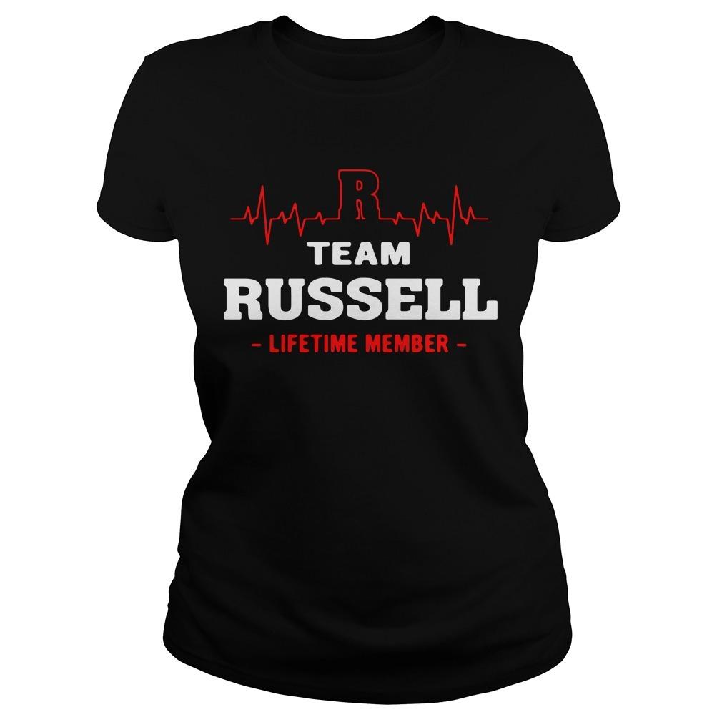 Team Russell lifetime member Ladies Tee