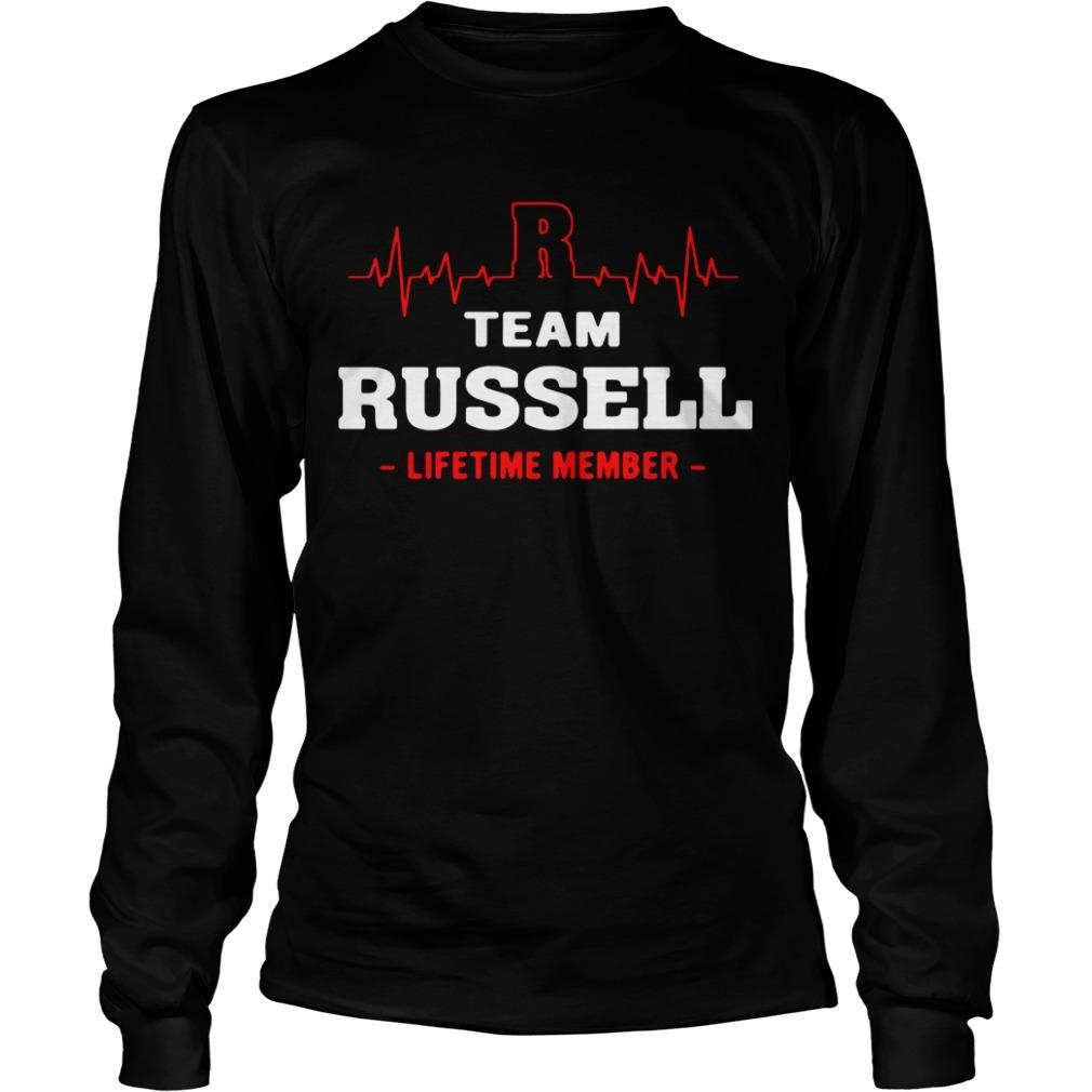 Team Russell lifetime member Longsleeve Tee