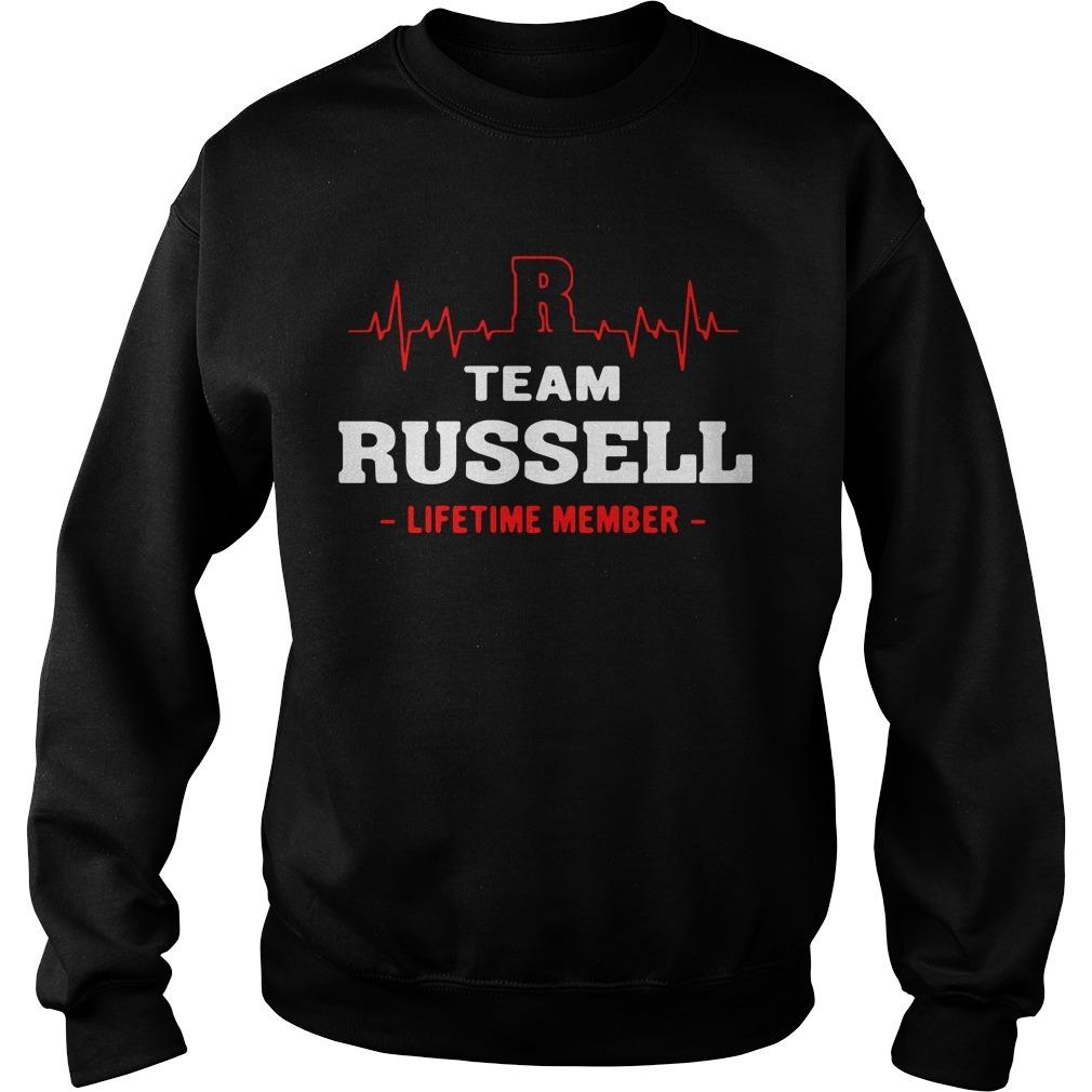 Team Russell lifetime member Sweater