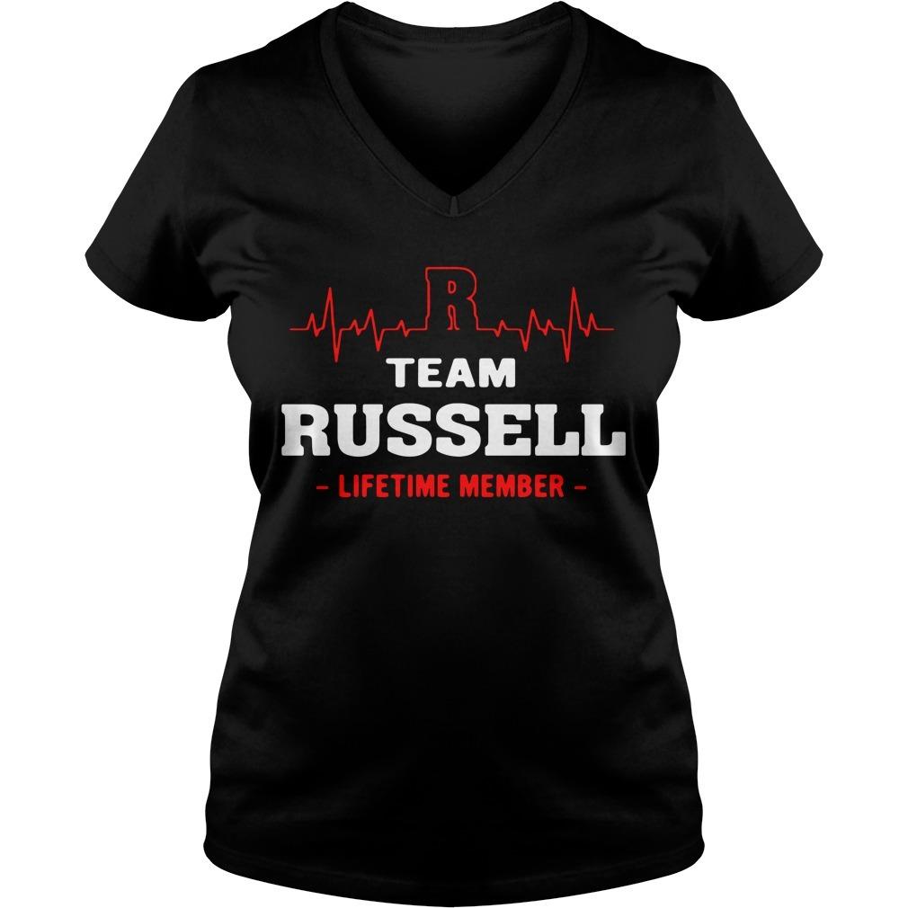 Team Russell lifetime member V-neck T-shirt