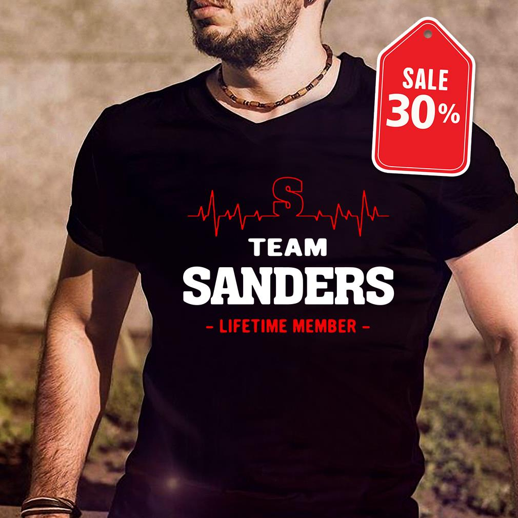 Team Sanders lifetime member Guys shirt