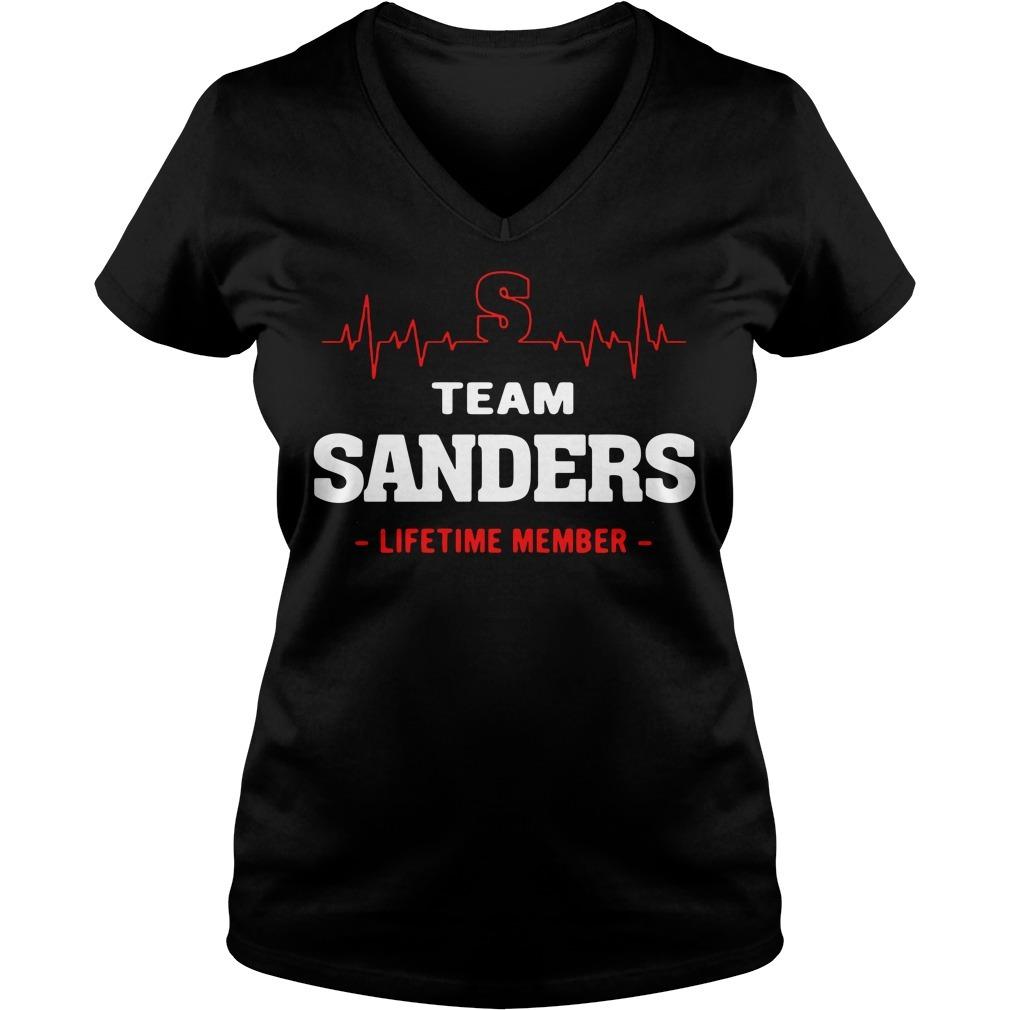 Team Sanders lifetime member V-neck T-shirt