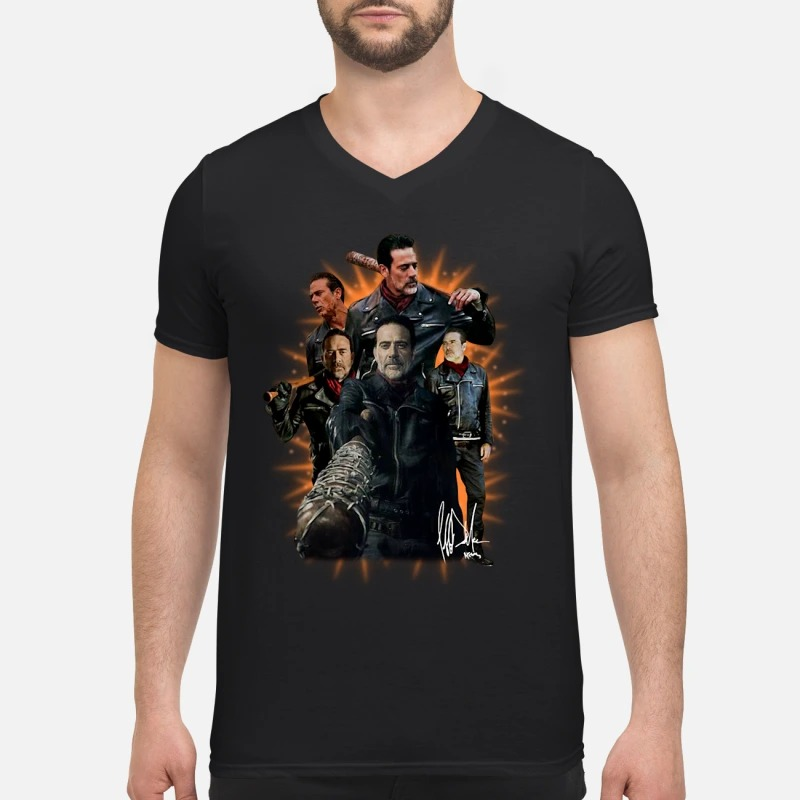 The walking dead Negan signature V-neck T-shirt