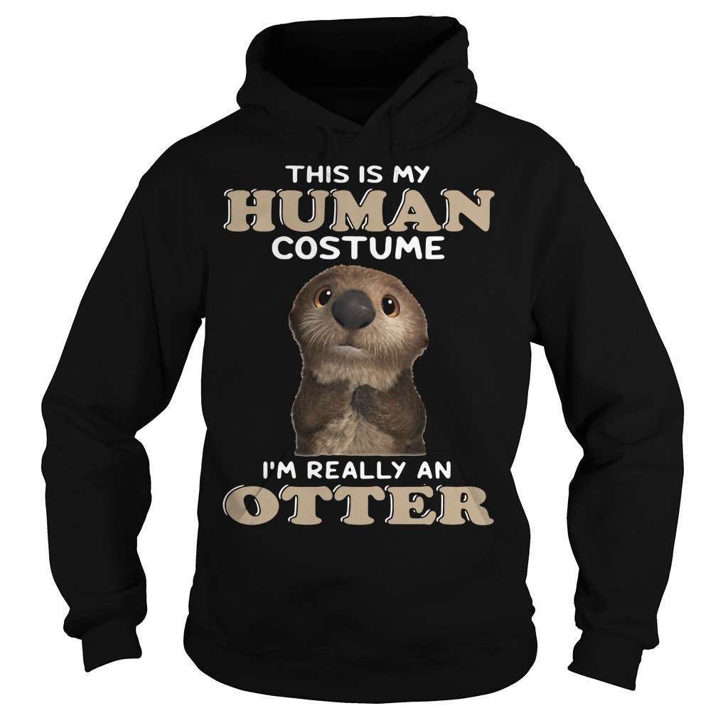 This is my human costume I'm really an otter Hoodie