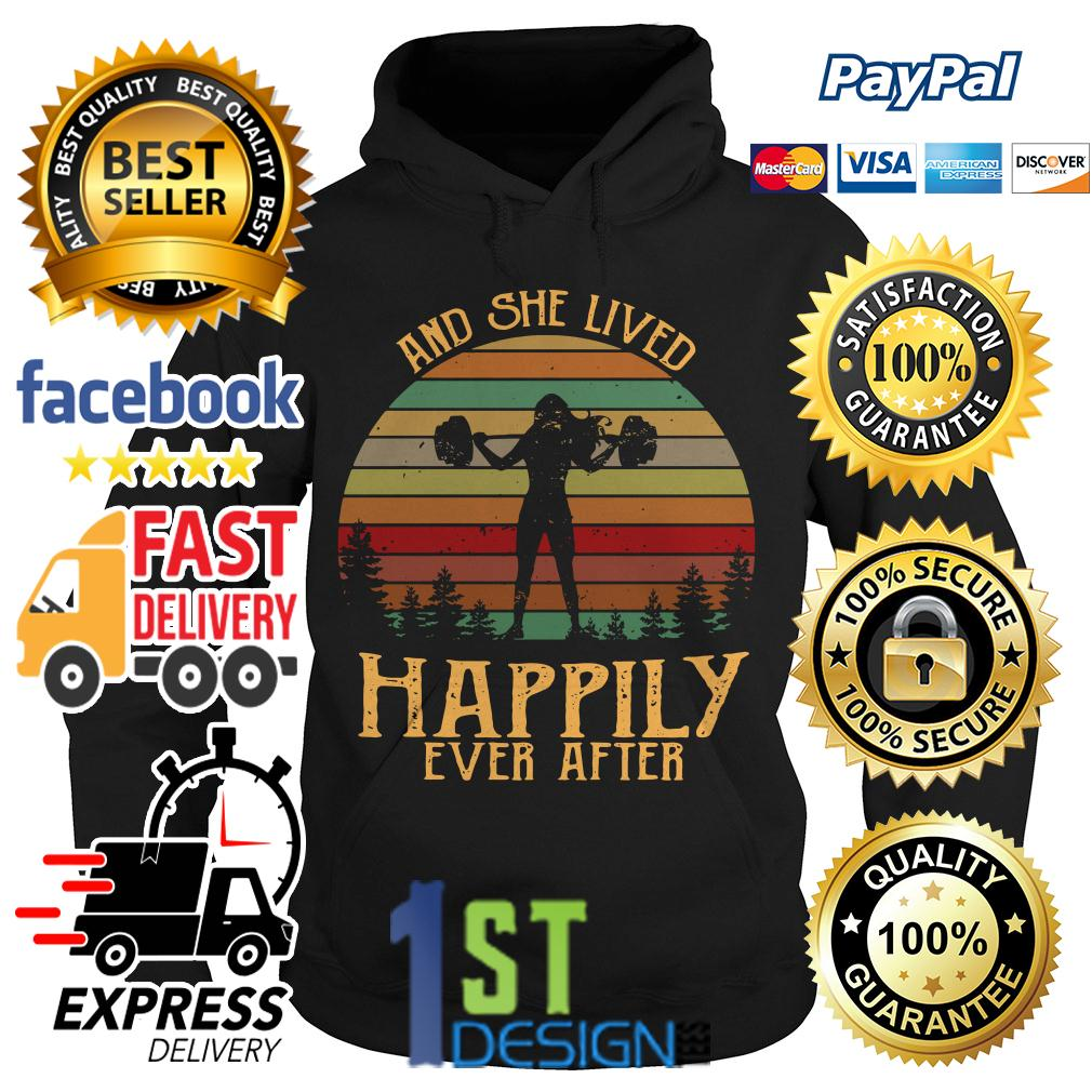 Weightlifting and she lived happily ever after vintage Hoodie