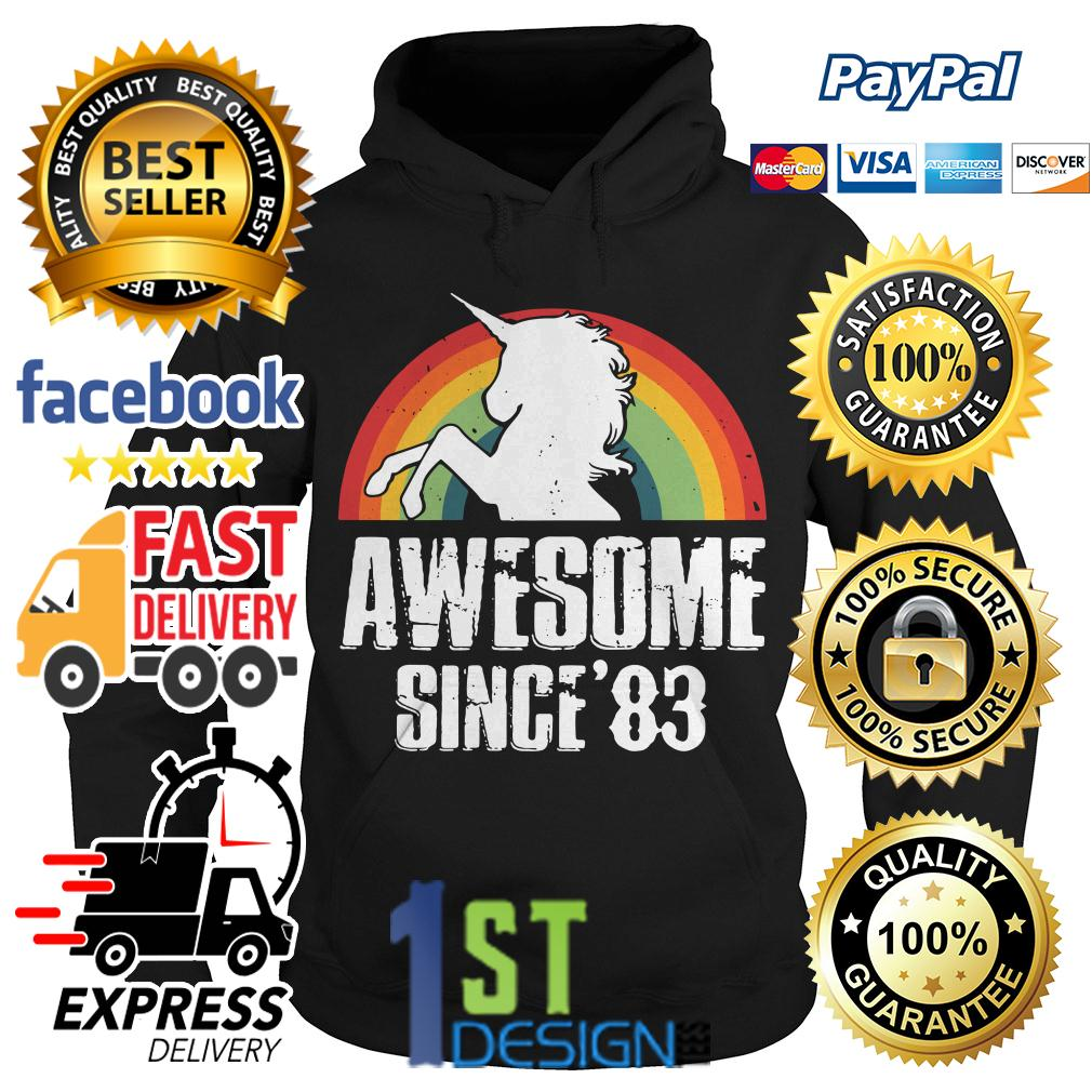 36th birthday unicorn awesome since' 83 Hoodie