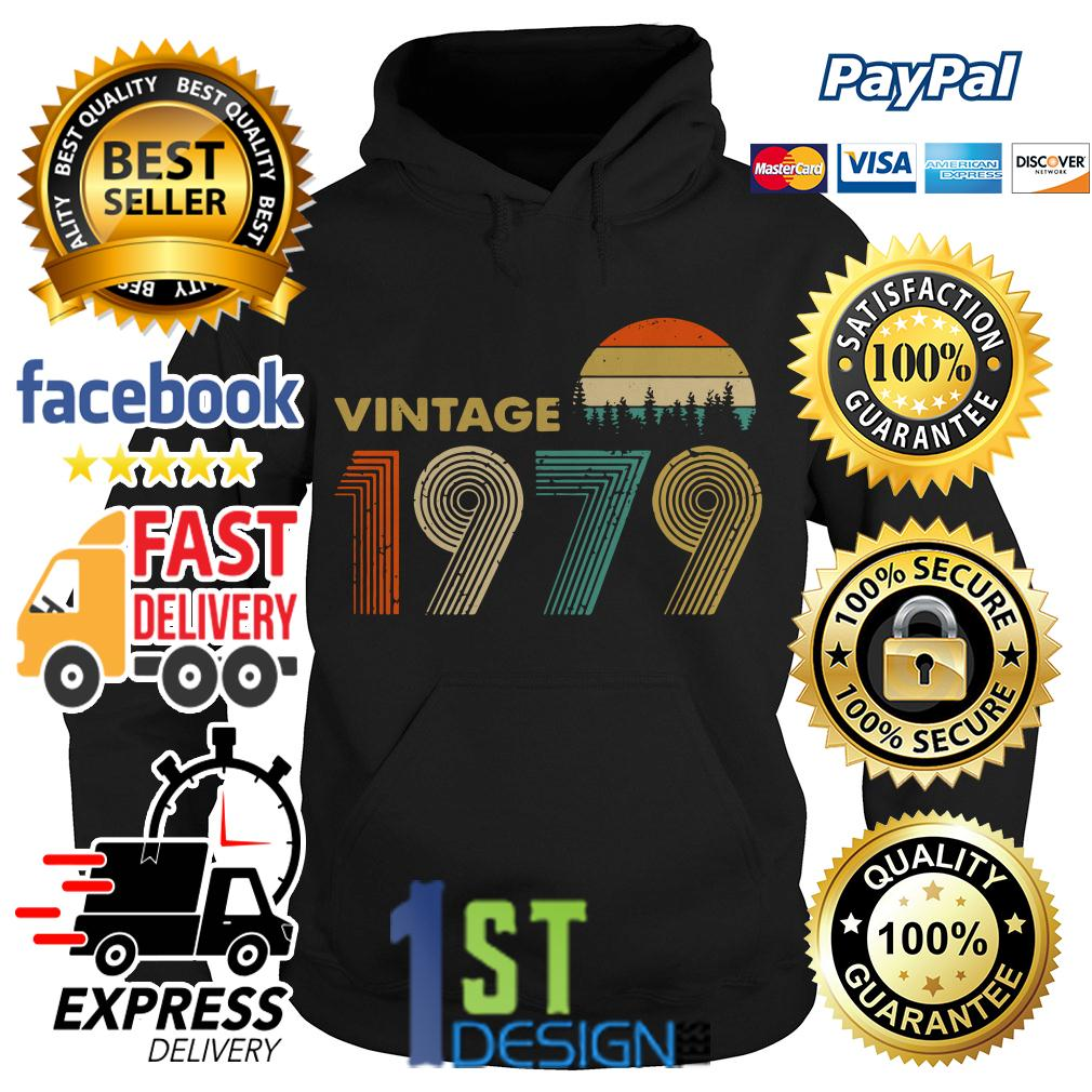 40th birthday vintage 1979 sunset retro Hoodie