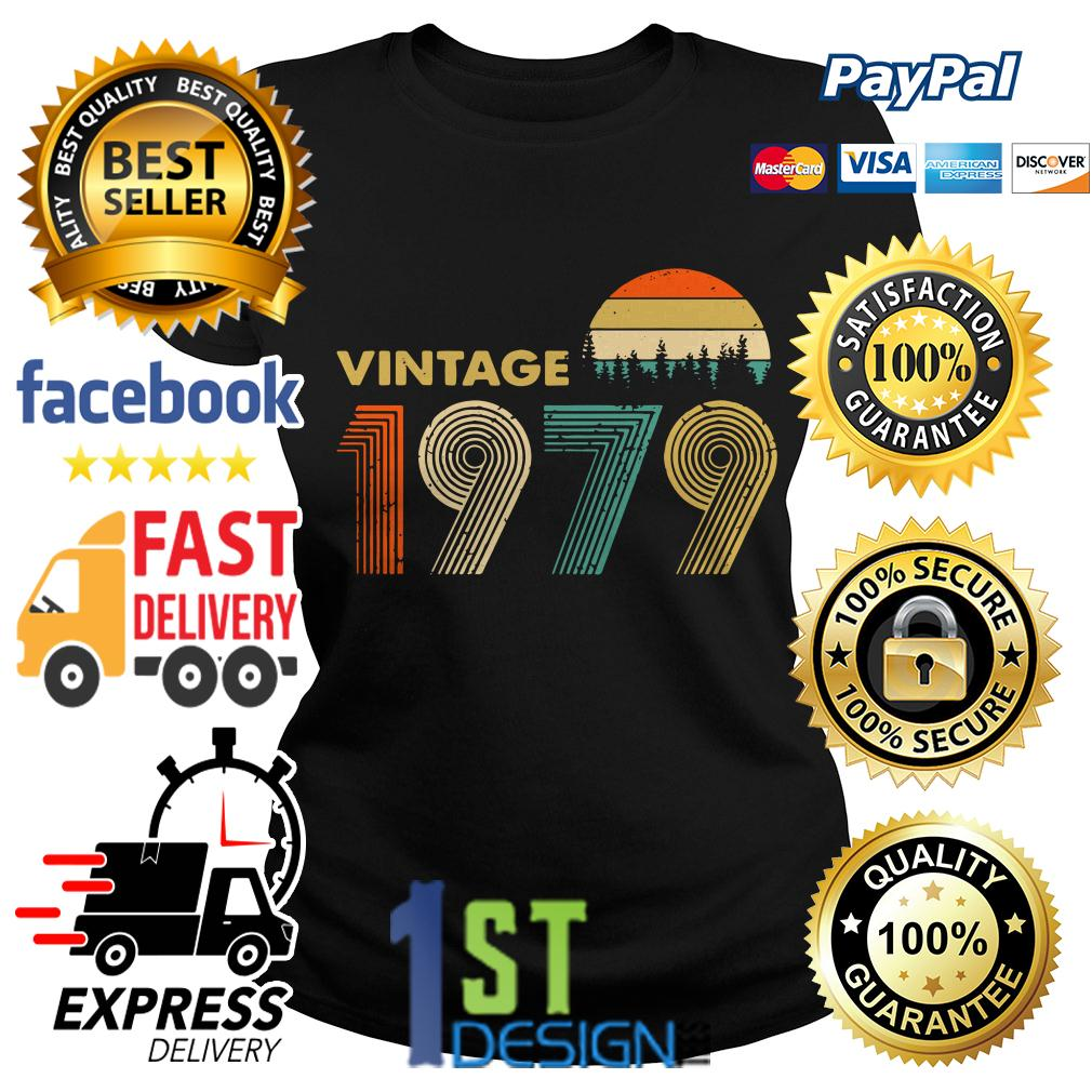 40th birthday vintage 1979 sunset retro Ladies Tee