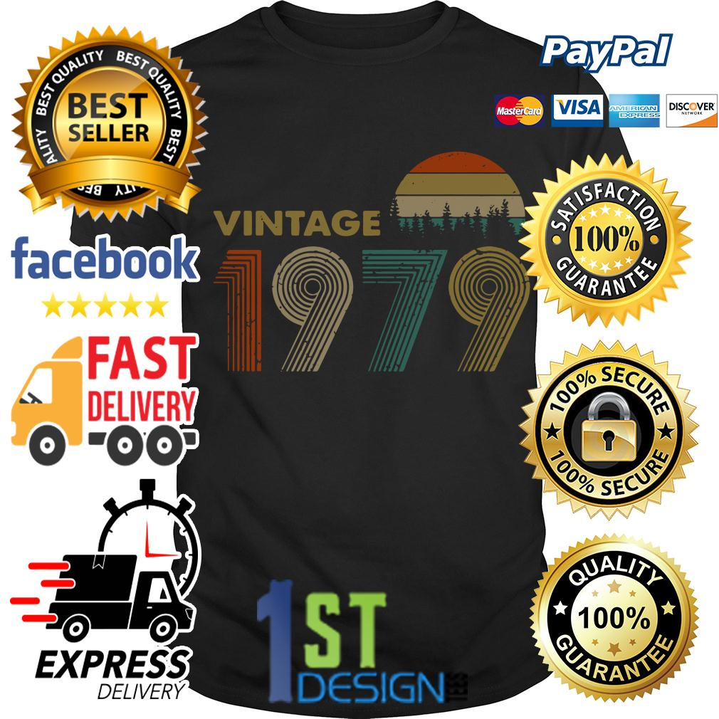 40th birthday vintage 1979 sunset retro shirt