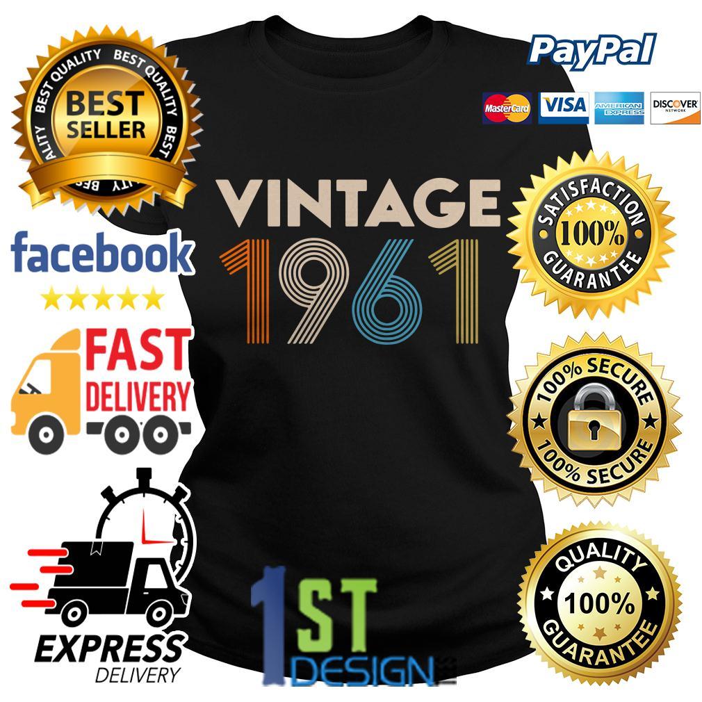58th birthday vintage 1961 retro Ladies Tee