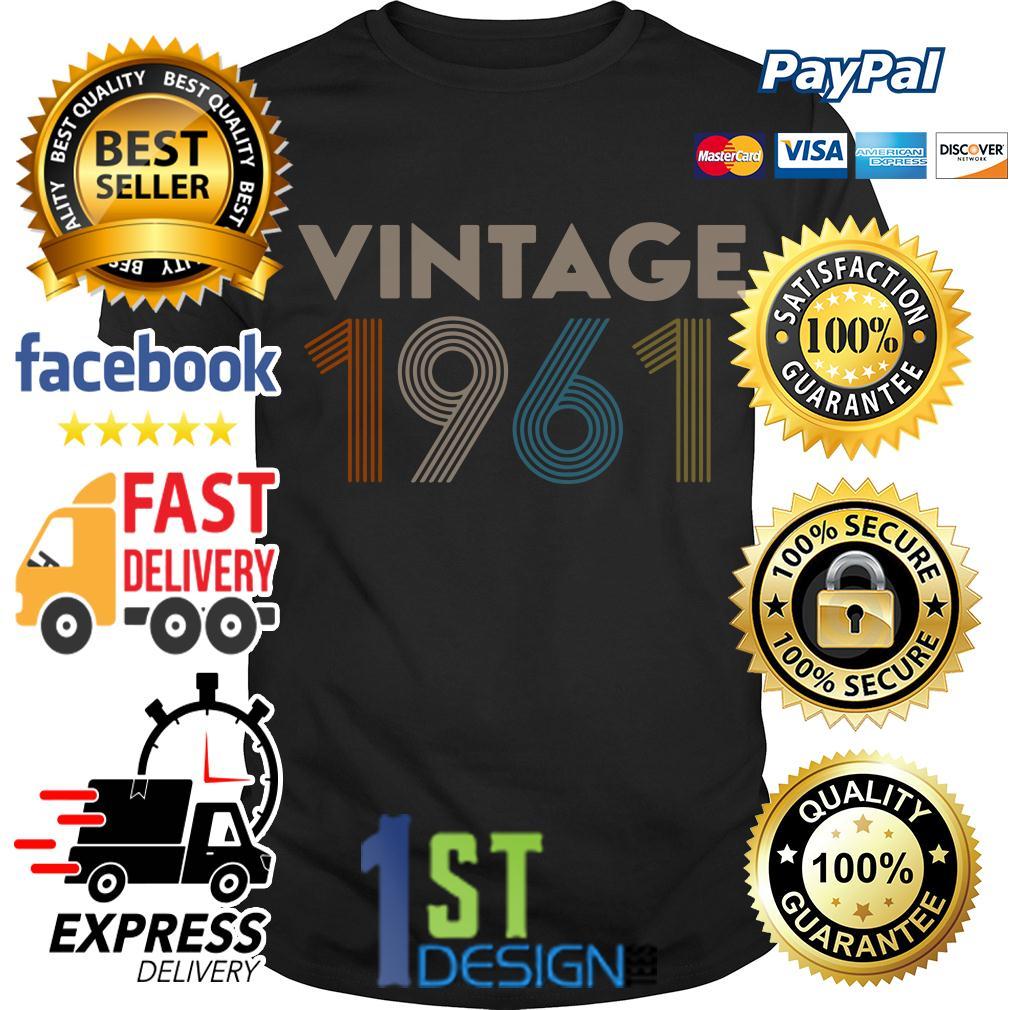 58th birthday vintage 1961 retro shirt