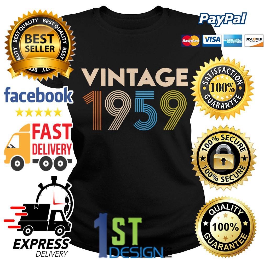60th birthday vintage 1959 Ladies Tee