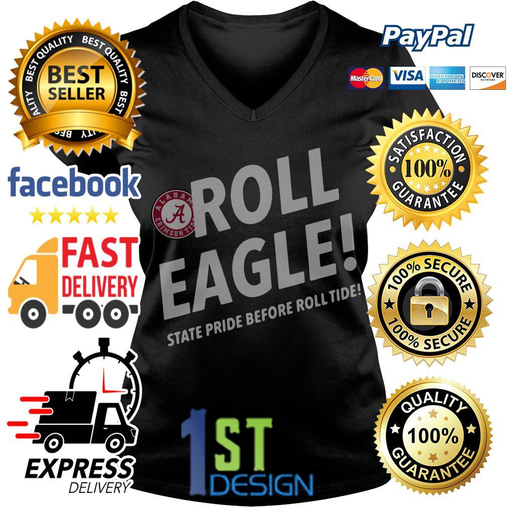 Alabama Crimson Tide Roll Eagle state pride before roll tide V-neck T-shirt