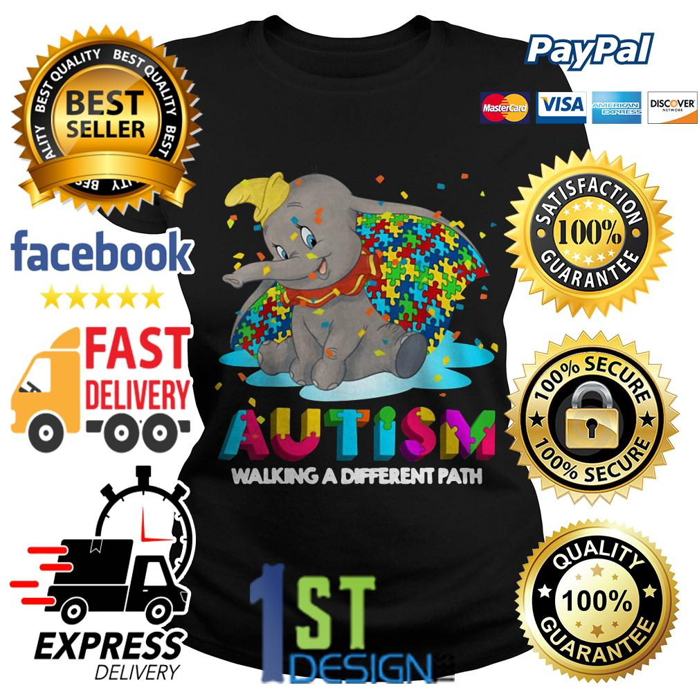 Elephant autism walking a different path Ladies Tee