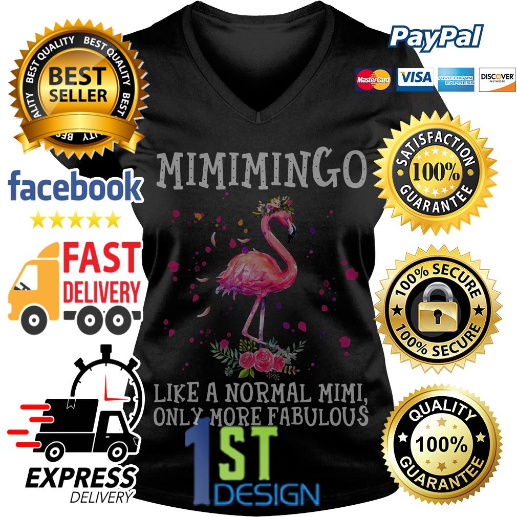 Flamingo floral Mimimingo like a normal Mimi only more fabulous V-neck T-shirt