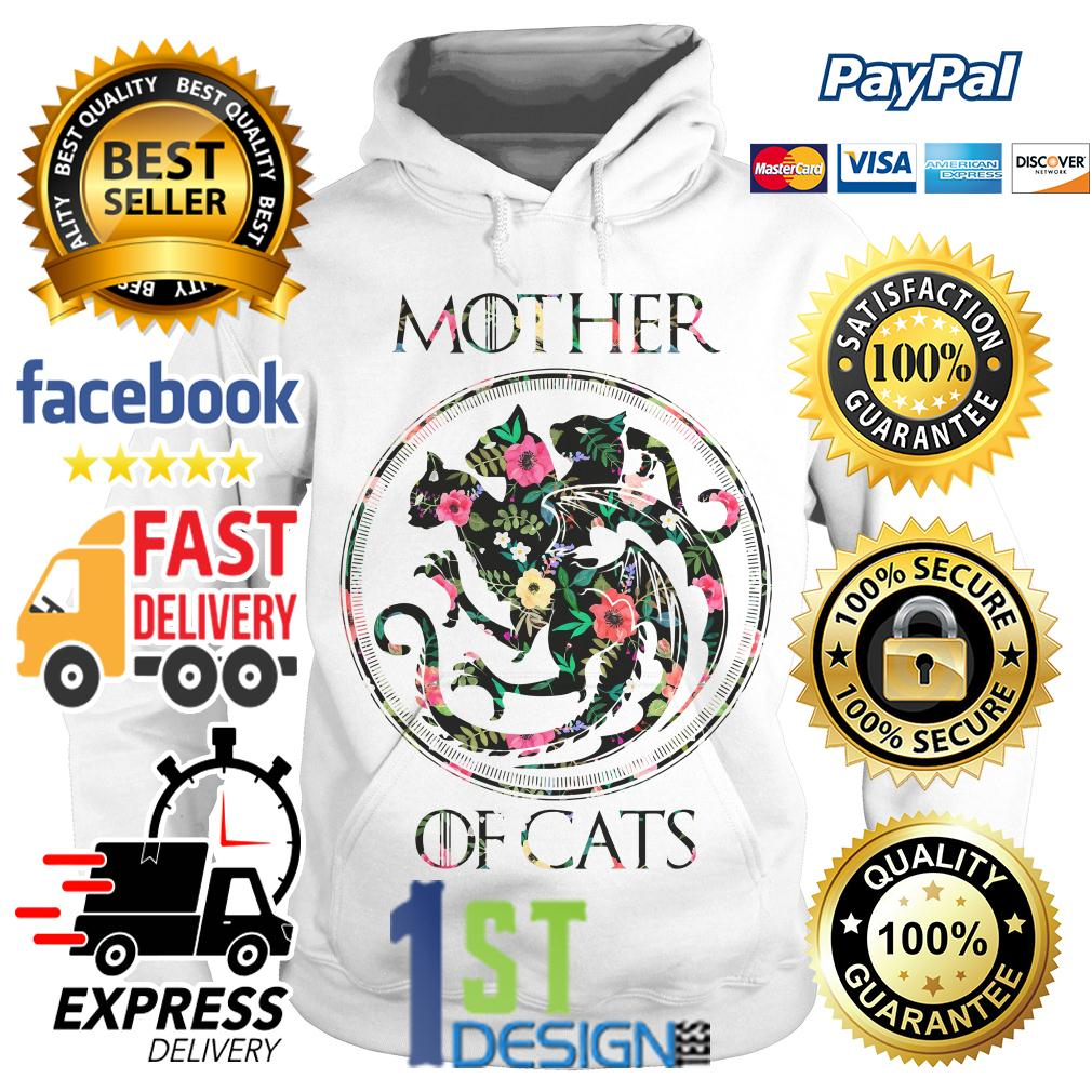 Floral Game of Thrones mother of cats Hoodie