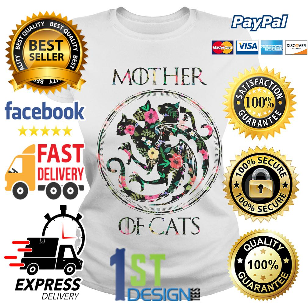 Floral Game of Thrones mother of cats Ladies Tee