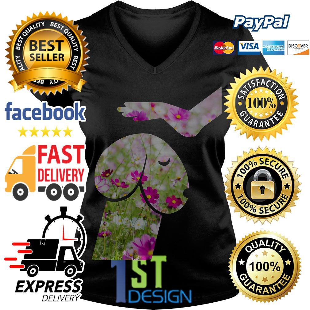 Flower Dickhead Dog Noma Bar V-neck T-shirt