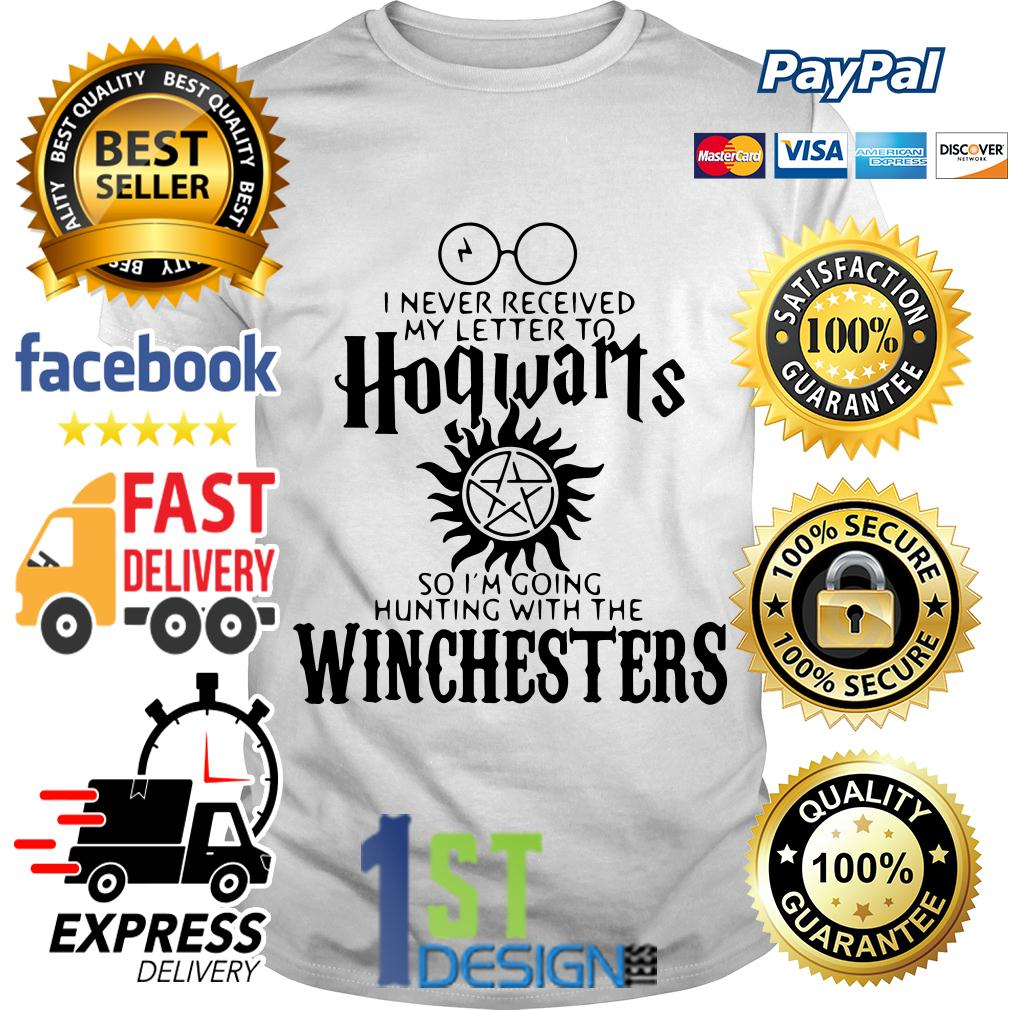 Harry Potter to Hogwarts so I'm going hunting with the Winchesters Ladies Tee