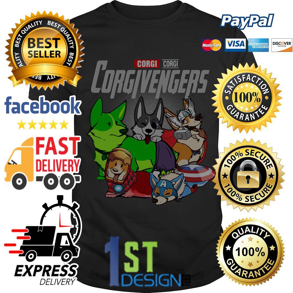 Marvel Avenger Corgi Corgivengers shirt