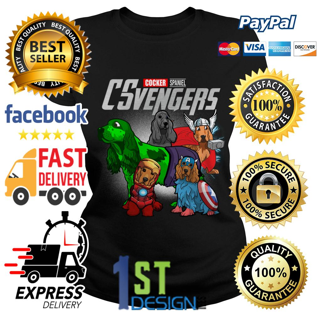 Marvel Cocker Spaniel CSvengers Avengers Ladies Tee