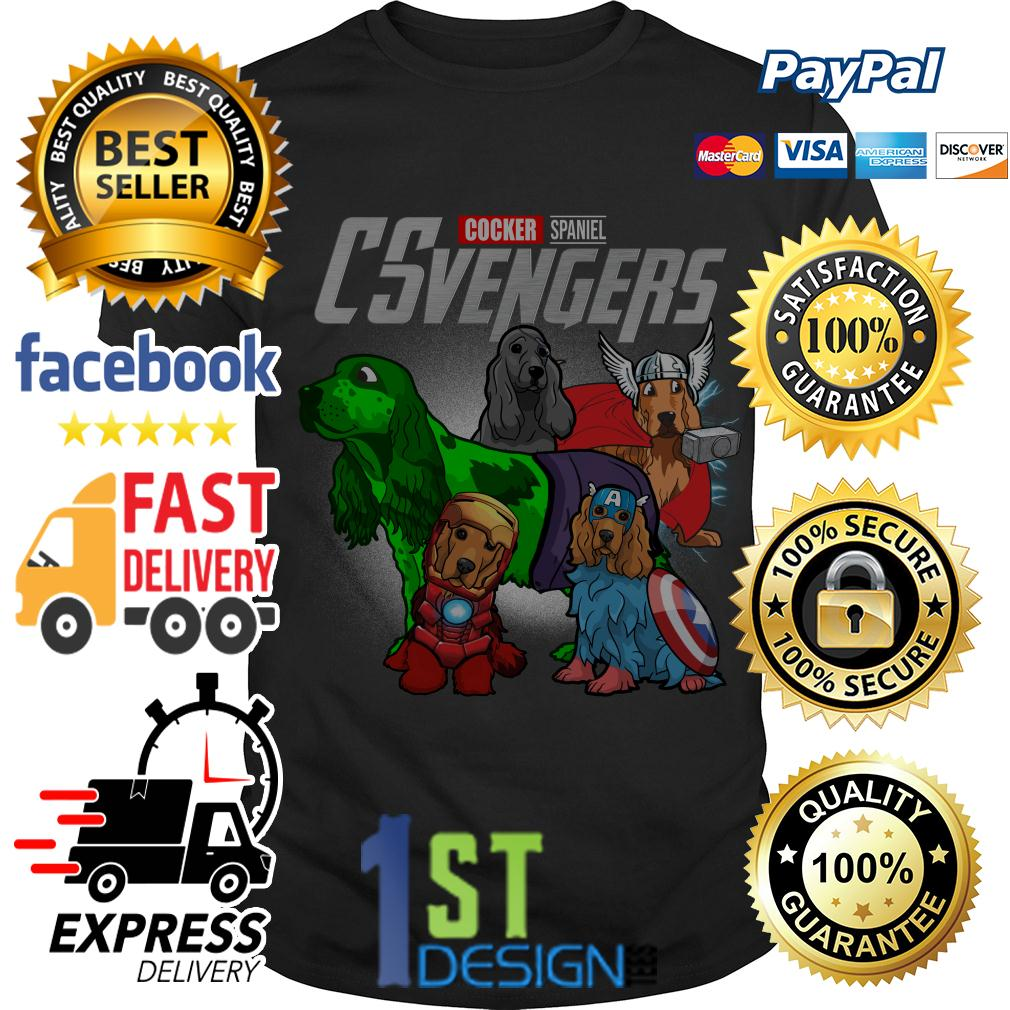 Marvel Cocker Spaniel CSvengers Avengers shirt