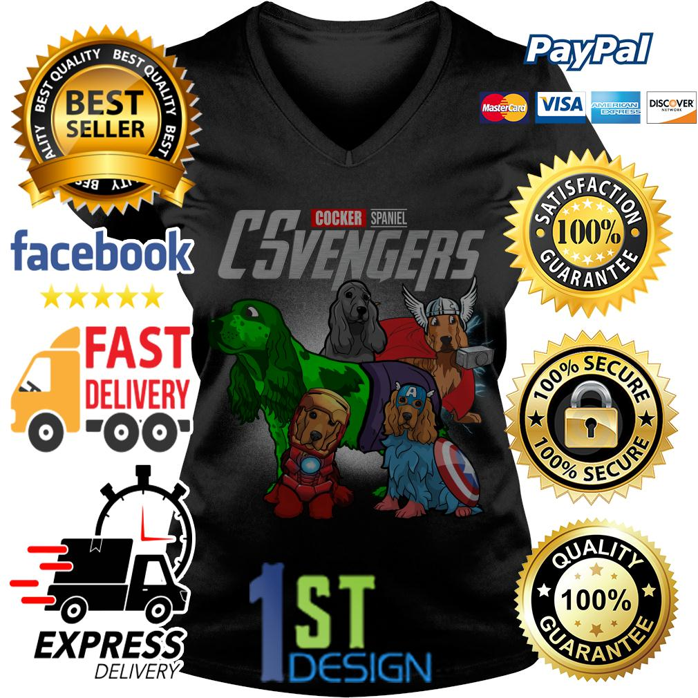 Marvel Cocker Spaniel CSvengers Avengers V-neck T-shirt