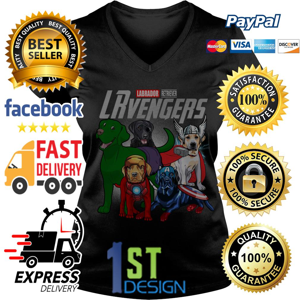Marvel Labrador Retriever LRvengers Avengers V-neck T-shirt
