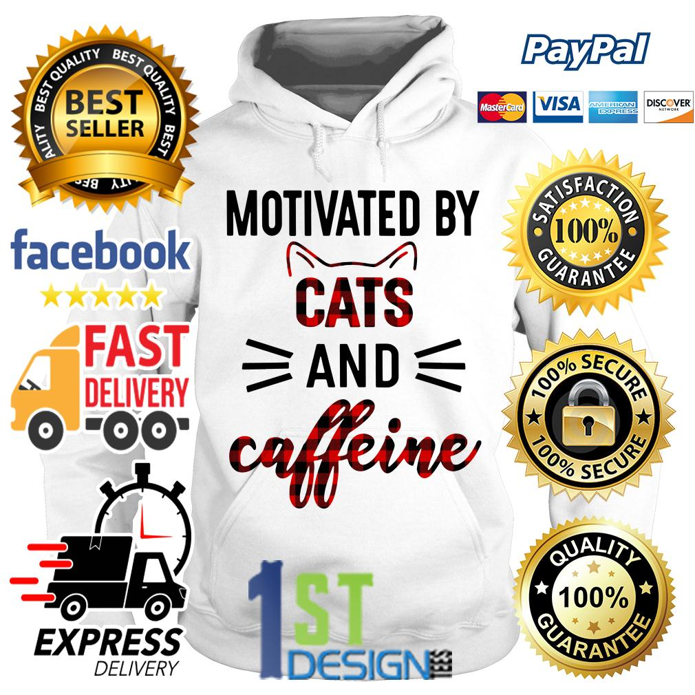 Motivated by cats and caffeine Hoodie