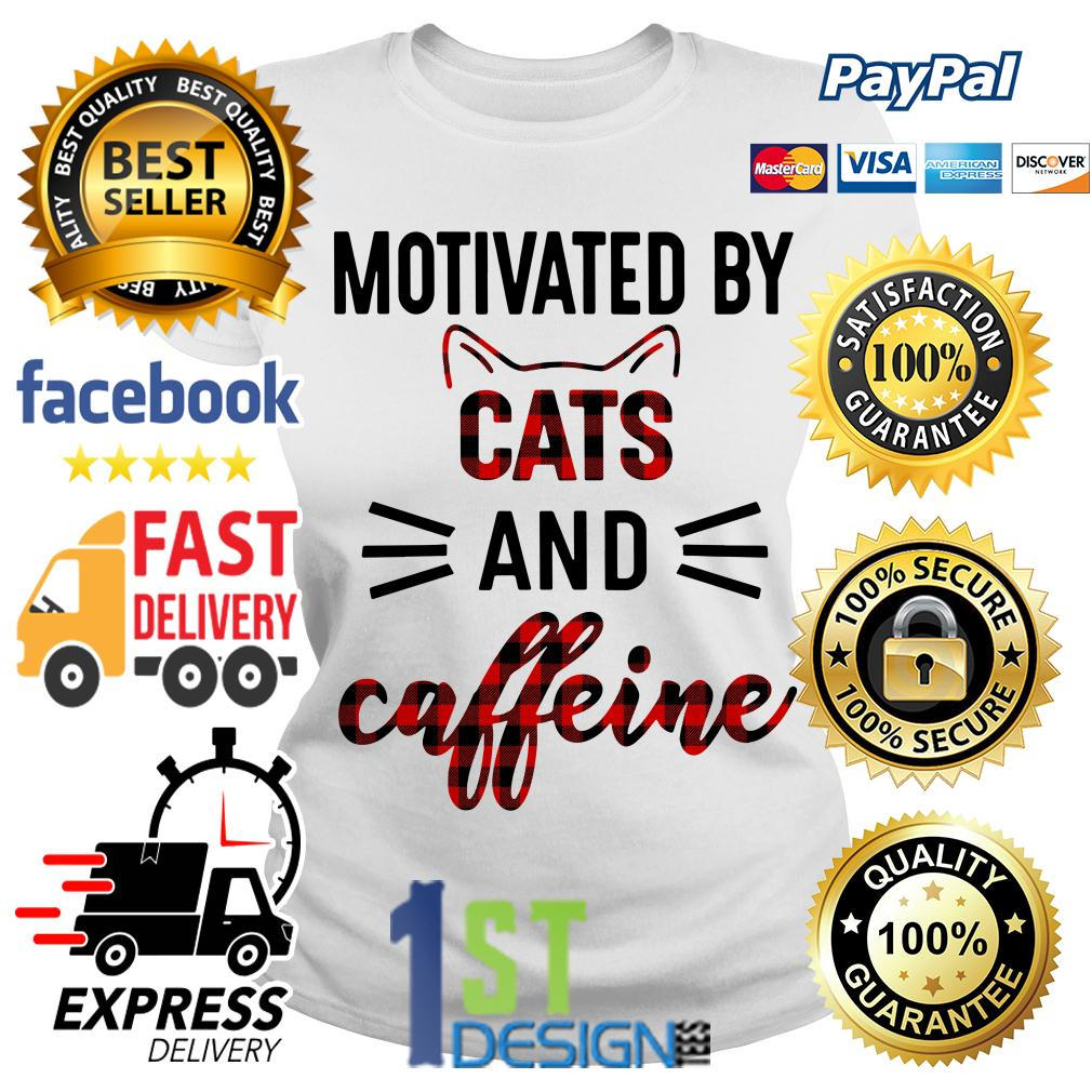 Motivated by cats and caffeine Ladies Tee